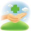医务人员0012,医务人员,健康医疗,十字形 手掌