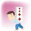 医务人员0028,医务人员,健康医疗,药箱