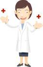 医务人员0038,医务人员,健康医疗,一个医师 白大褂 红十字