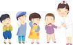 医务人员0044,医务人员,健康医疗,一排孩子 打针