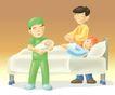 医务人员0058,医务人员,健康医疗,产房 婴儿 产妇