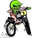 人豆0066,人豆,漫画卡通,骑车 自行车