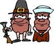 人豆0072,人豆,漫画卡通,趣味插画 枪支