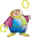 杂技0013,杂技,漫画卡通,胖老头