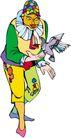 杂技0036,杂技,漫画卡通,个性小丑 变魔术