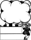 杂技0053,杂技,漫画卡通,气球