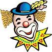 杂技0072,杂技,漫画卡通,滑稽小丑