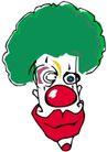杂技0073,杂技,漫画卡通,绿色头发 红鼻子