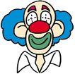 杂技0077,杂技,漫画卡通,一个小丑