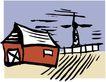 乡村景象0214,乡村景象,建筑装饰,
