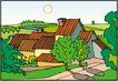 乡村景象0233,乡村景象,建筑装饰,