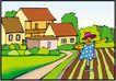 乡村景象0251,乡村景象,建筑装饰,