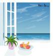 室内装饰0010,室内装饰,建筑装饰,窗台 盆某 水果