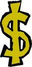 货币0008,货币,金融风暴,美元符号