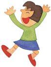 儿童0061,儿童,插画,欢笑