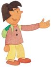 儿童0073,儿童,插画,伸出手掌