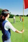 高尔夫运动0047,高尔夫运动,运动,手拿旗子