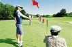 高尔夫运动0073,高尔夫运动,运动,手扶 红色 小旗