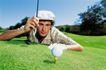高尔夫运动0075,高尔夫运动,运动,趴卧 地面 描准