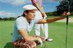 高尔夫运动0093,高尔夫运动,运动,选手 准备 热身