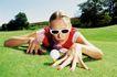 高尔夫运动0095,高尔夫运动,运动,墨镜 美女 草地