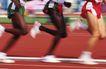 竞技比赛0172,竞技比赛,运动,三名运动员 黑人选手 白人选手
