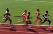 竞技比赛0175,竞技比赛,运动,冲刺阶段 男子运动员 你追我赶