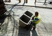 环保措施0039,环保措施,工业,环卫工人 垃极桶 清洁工