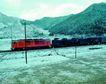 现代火车0059,现代火车,工业,山区 电线杆 平原区