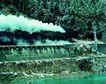 现代火车0060,现代火车,工业,进山 遂道 烟雾