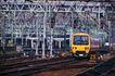 现代火车0094,现代火车,工业,车站 进站 鸣笛