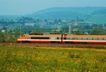 现代火车0109,现代火车,工业,长方形窗口 橙色 子弹头