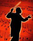 古典音乐0045,古典音乐,艺术,指挥家 五线谱