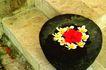 巴黎岛温泉0171,巴黎岛温泉,休闲保健,水泥石阶 石罐 漂浮花朵