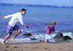 全家福0026,全家福,家庭情侣,沙滩 玩耍 追赶