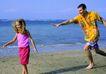 全家福0032,全家福,家庭情侣,跑步 海边 蓝天