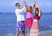 全家福0043,全家福,家庭情侣,海浪 甜美的一家 比高