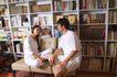 温馨家庭0151,温馨家庭,家庭情侣,大书柜