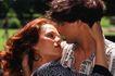 两人世界0108,两人世界,家庭情侣,女士在男士怀里 女士握男士头 准备接吻