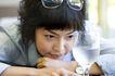 东方恋人0215,东方恋人,家庭情侣,佳丽 思考 玻璃杯