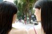 女性购物0078,女性购物,生活方式,肩并肩 亲蜜 关系