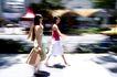 女性购物0079,女性购物,生活方式,匆忙 赶路 行走