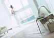 快乐早餐0045,快乐早餐,生活方式,喝咖啡 职业女性 往窗户外看