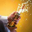激动时刻0054,激动时刻,生活方式,开香槟 手拿瓶子 瓶塞冲出