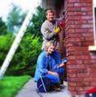 劳动创造0007,劳动创造,生活方式,家庭 修房 夫妻 红砖 装饰