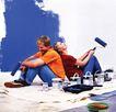 劳动创造0022,劳动创造,生活方式,夫妻 油漆 粉刷