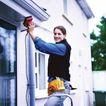 劳动创造0024,劳动创造,生活方式,主妇 打扫 楼房