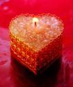 温馨烛光0012,温馨烛光,生活方式,蜡 红色 桃形烛