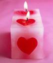 温馨烛光0015,温馨烛光,生活方式,红心 正方形 烛光 礼节 粉红