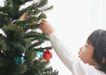 儿童圣诞0175,儿童圣诞,儿童教育,松柏枝 小旗子 彩球